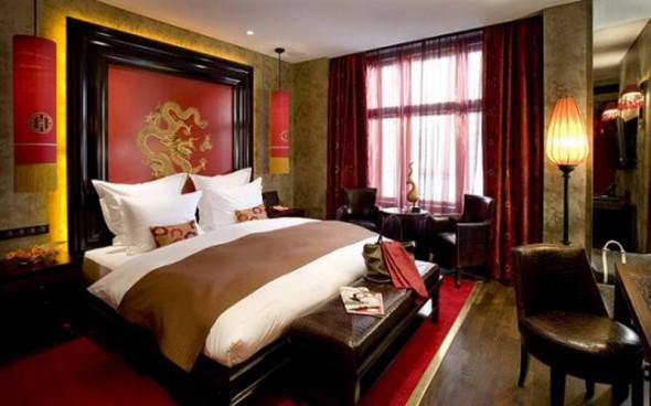 Интерьер спальни в китайском стиле. Фото интерьера китайской спальной комнаты. Дизайн Китайской спальни