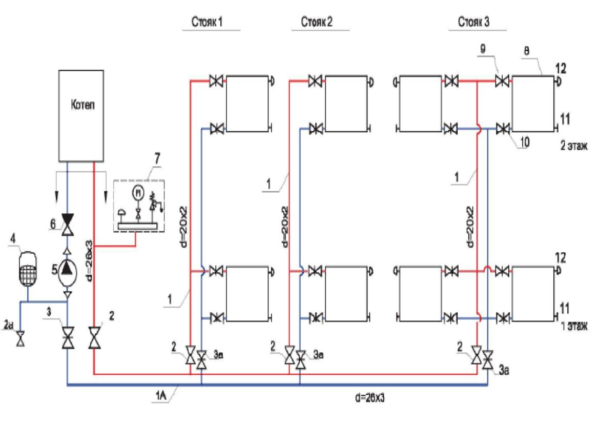 Схема расположения системы отопления фото 716