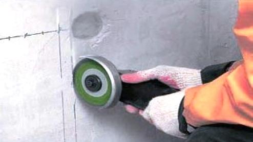 Как правильно штробить бетонную стену?