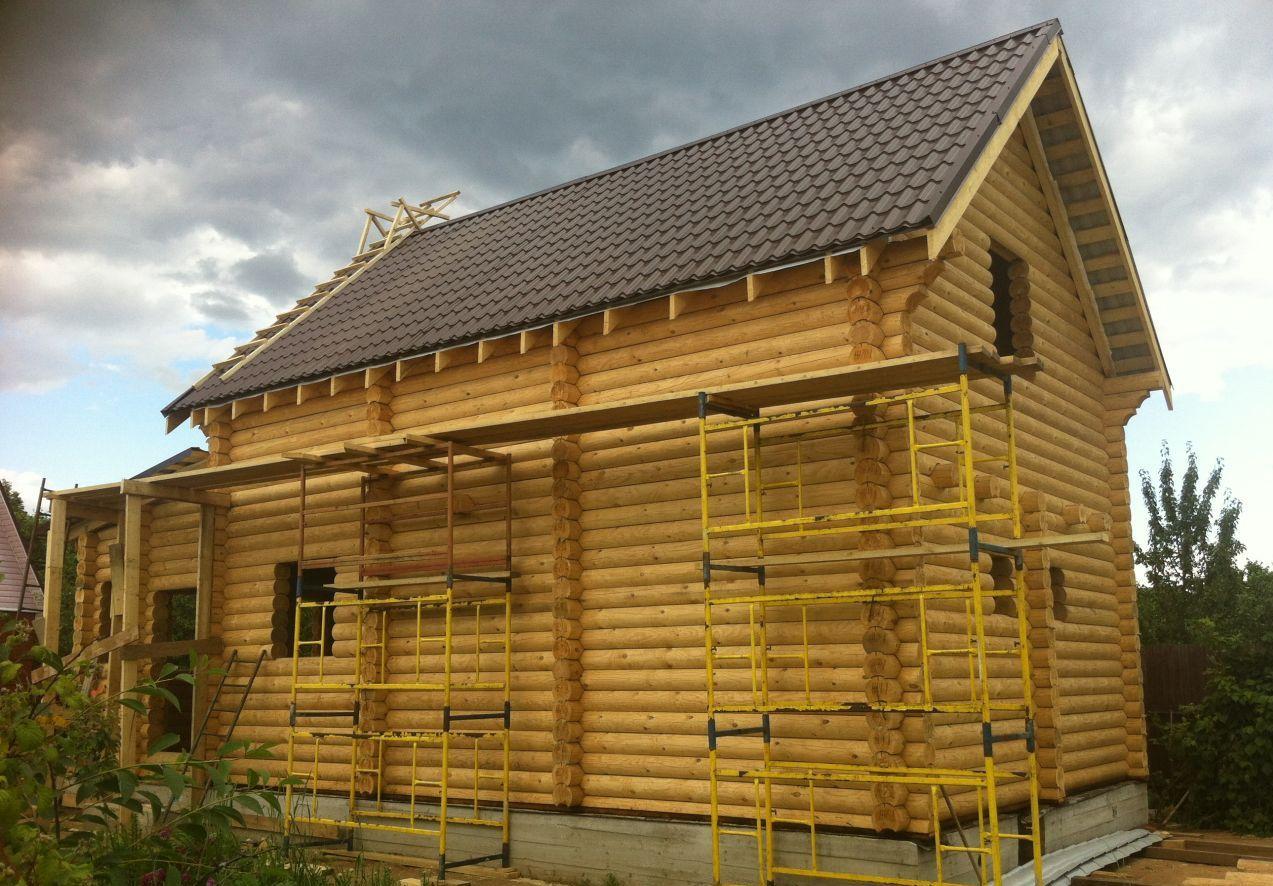 Дома из оцилиндрованного бревна с финским профилем
