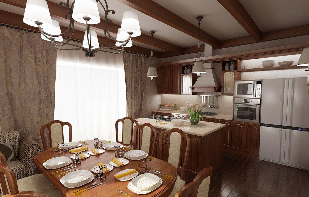 Дизайн подиума на кухне