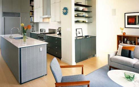 Дизайн кухни гостиной