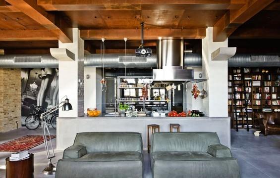 Эклектика в интерьере кухни-гостиной