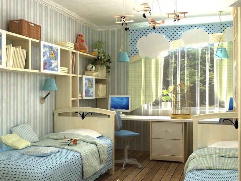Дизайн комнаты для разнополых