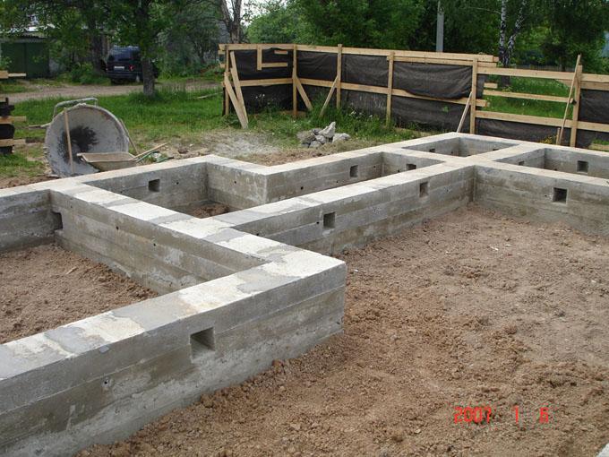 Строительство фундамента 13