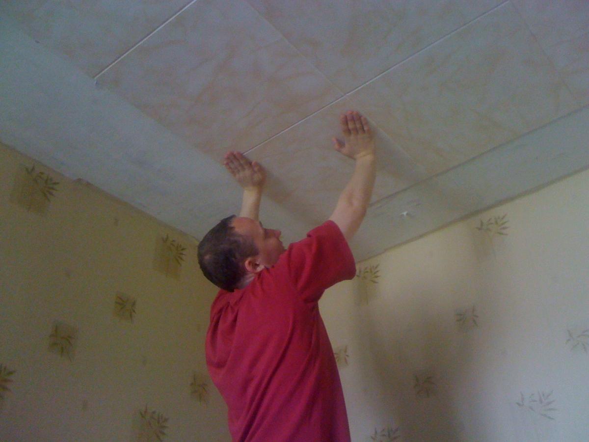 Самостоятельный ремонт потолка