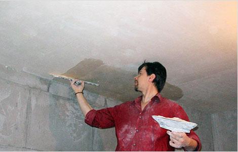 Потолок из декоративной штукатурки своими руками